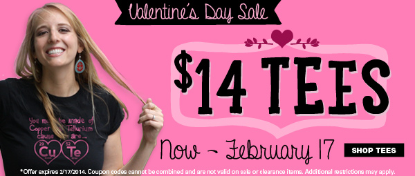 $14 Tees - Valentine's Day Sale