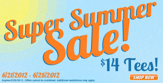 Super Summer Sale - $14 Tees