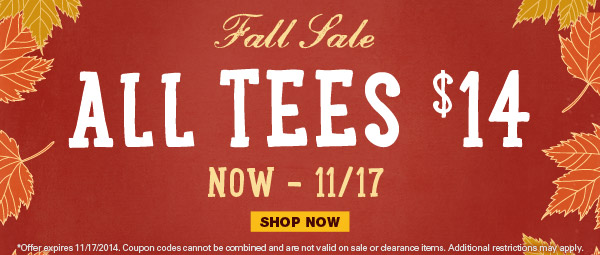 Fall Sale - All Tees $14