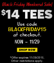 Black Friday Weekend Sale! All Tees $14