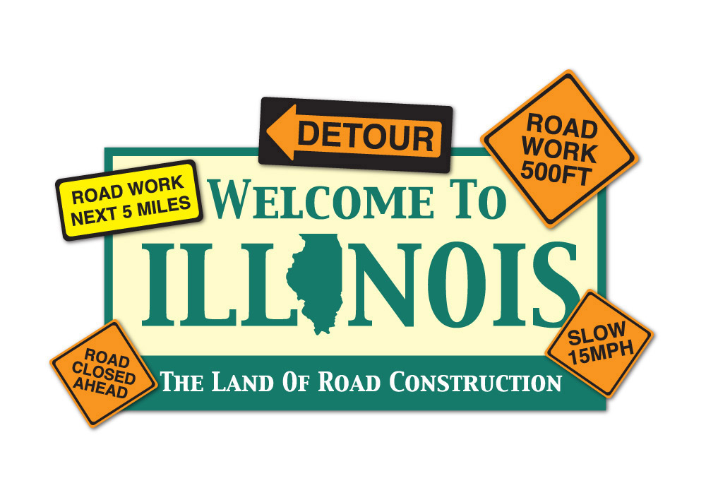 Image result for illinois construction meme