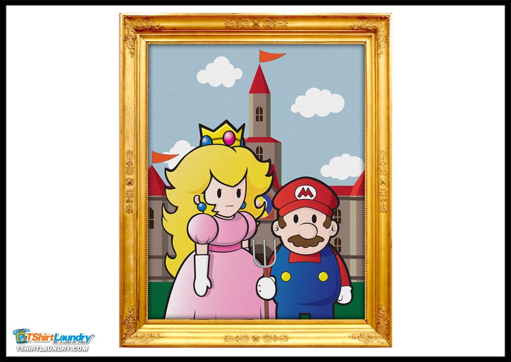 Mario Bros American Gothic