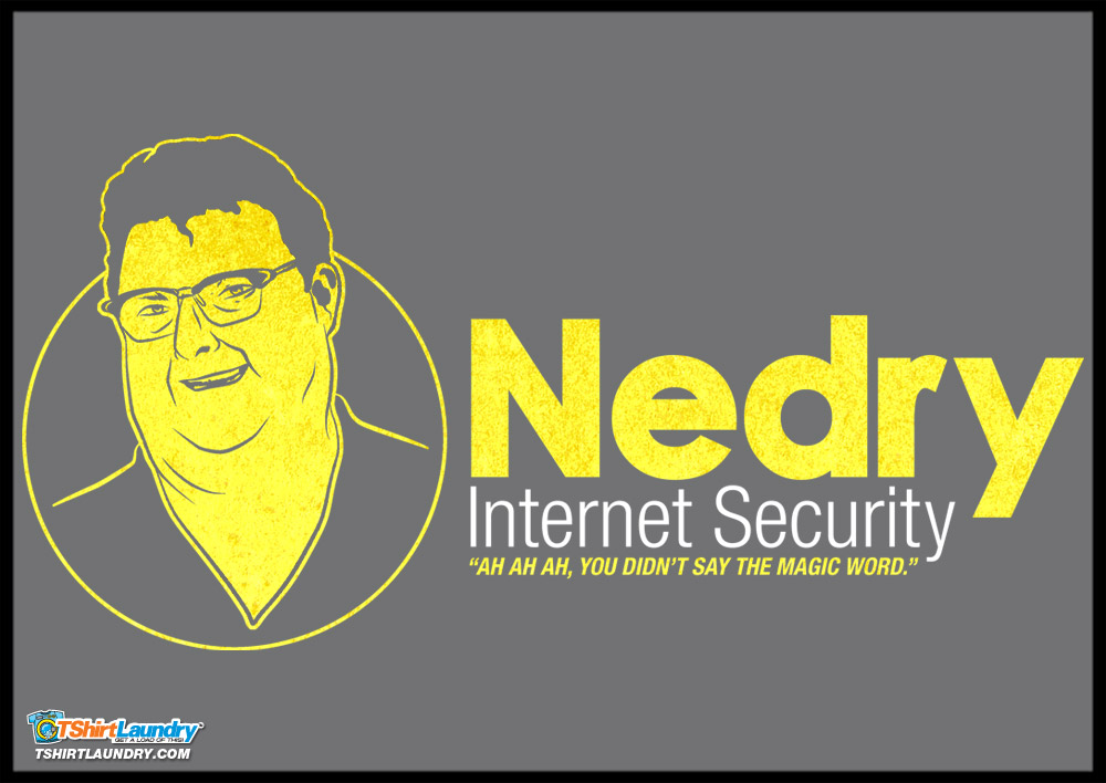 Nedry Security Tshirt