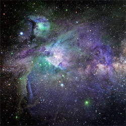 Starfield Nebulae Purple 3'x3' Playmat