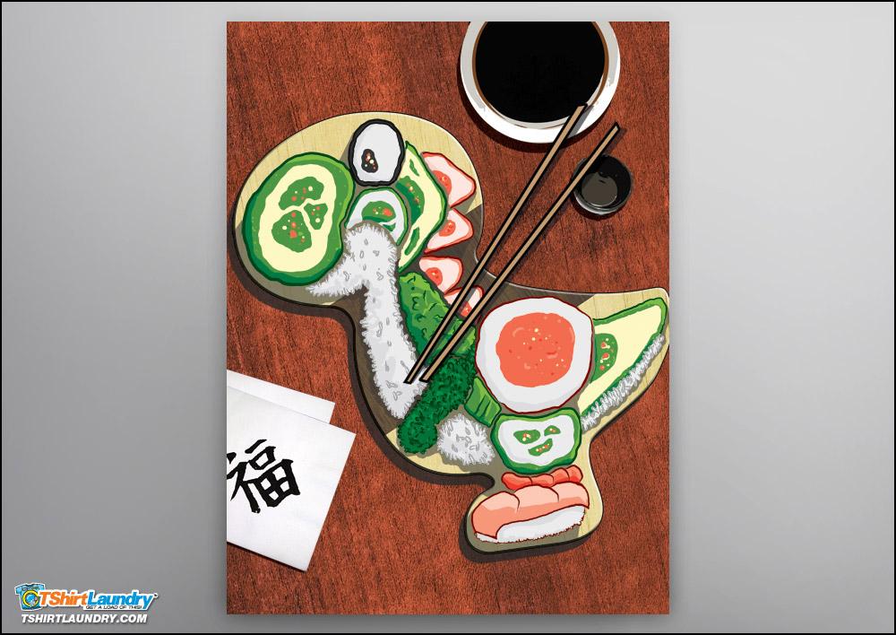 Yoshi Sushi Poster