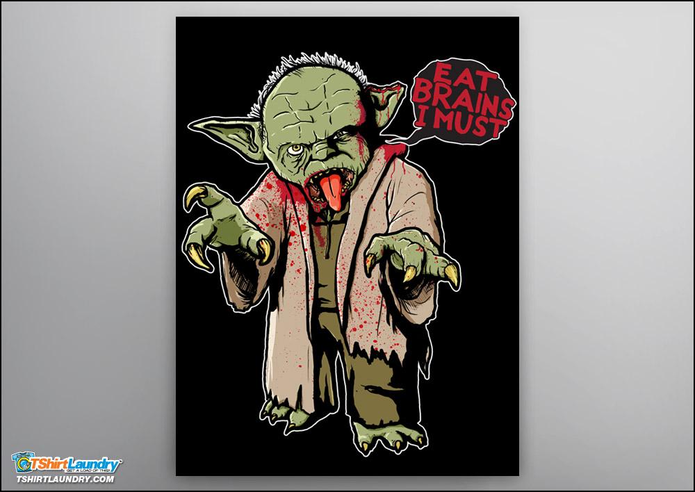 Zombie Yoda Poster