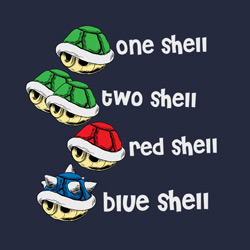 One Shell, Two Shell, Red Shell, Blue Shell