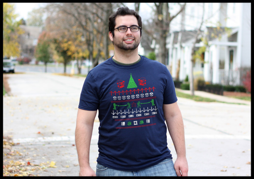 "Gamer Holiday """"Sweater"""" Tshirt"