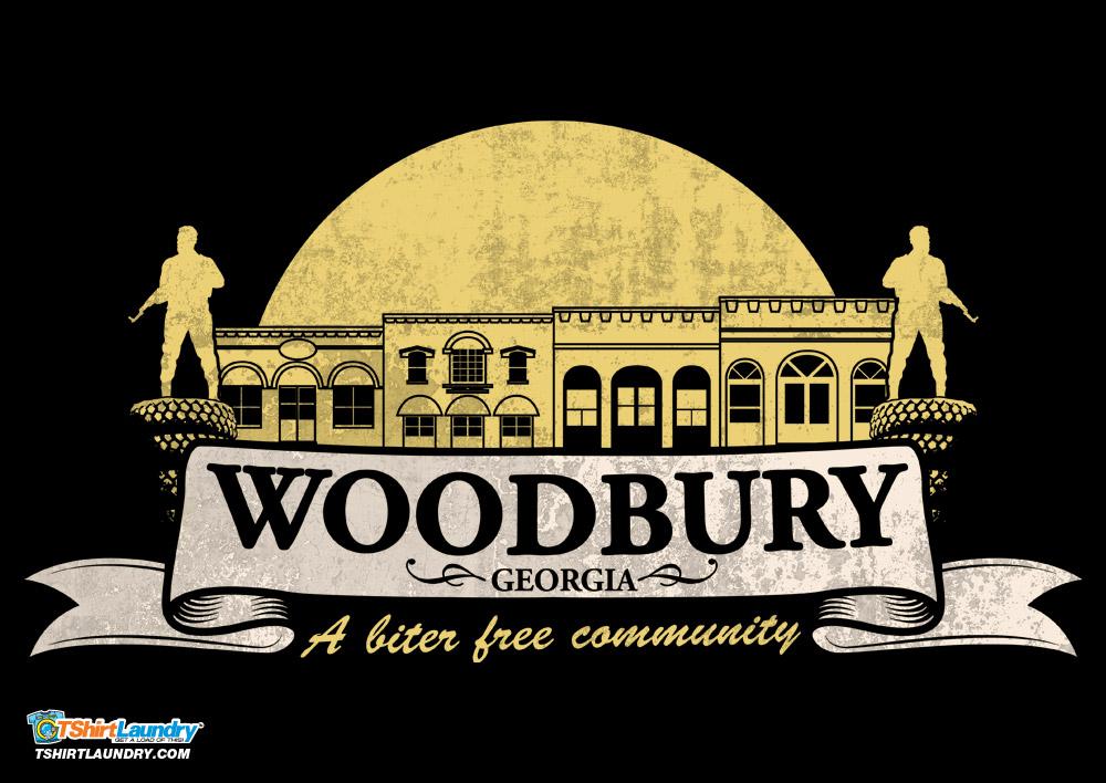 Woodbury Georgia a biter free community walking dead t-shirt