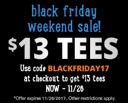$13 Tees for Black Friday