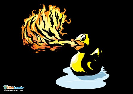 Fire Breathing Rubber Ducky T-Shirt