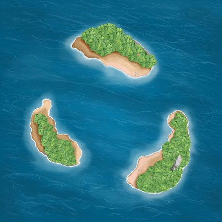 Islands 3'x3' Playmat