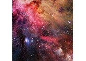 Starfield Nebulae Red 3'x3' Playmat