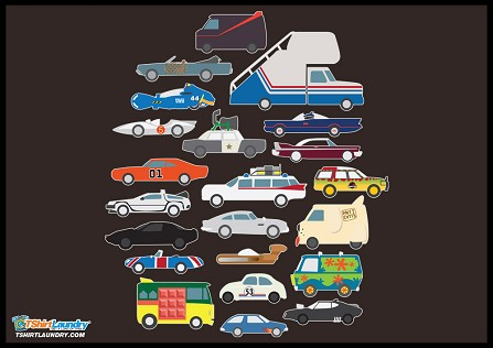 Pop Culture Cars T-Shirt