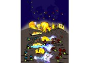 Fireflies vs. Lightning Bugs: an Epic Battle Poster