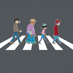 Gorillaz on Abbey Road
