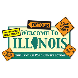 Illinois:  Road Construction Abounds