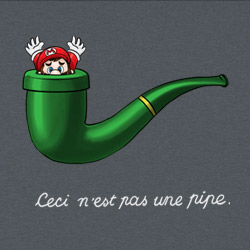 Mario, This is Not a Pipe (The Treachery of the Mushroom Kingdom)