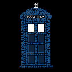 Doctor Who Tardis Words