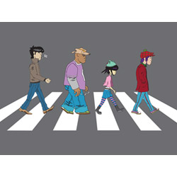 Gorillaz on Abbey Road Poster