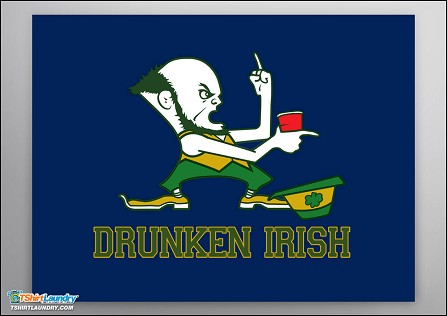 Drunken Irish Poster