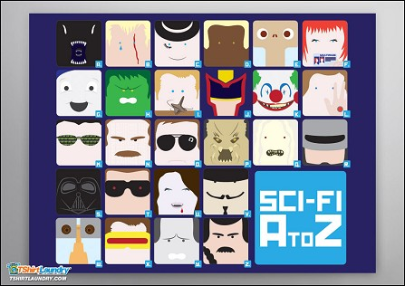 A-Z Sci Fi Movies Poster